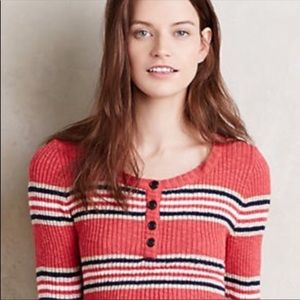 Sanctuary Striped Ribbed Sweater. Size Small